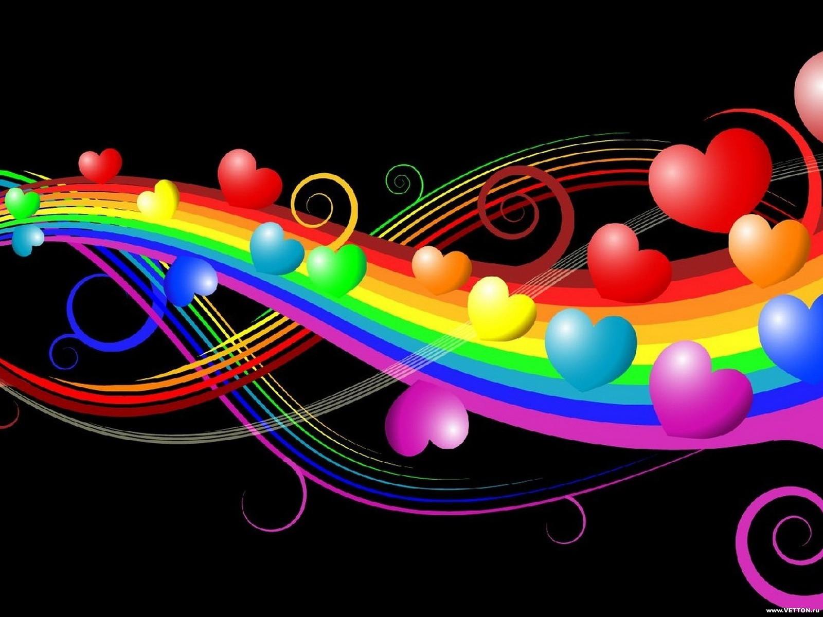 beautiful 3d colorful vivid love bubbles computer background wallpaper 1600x1200
