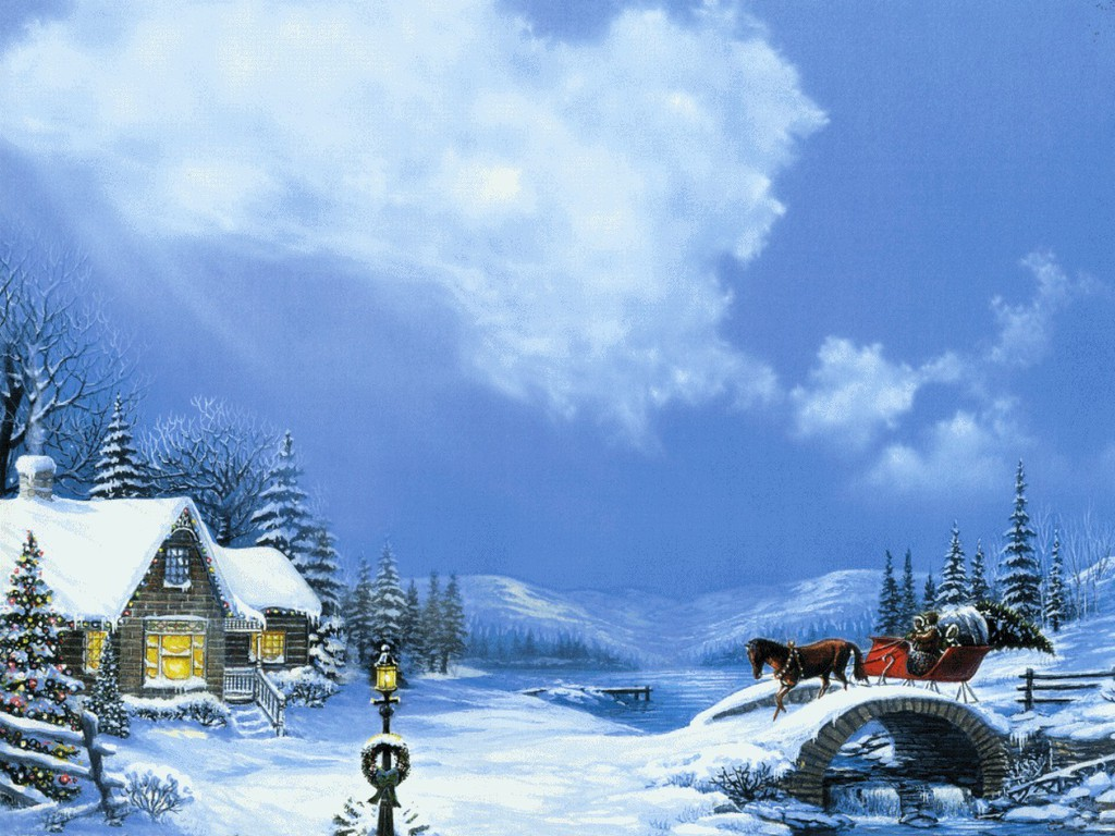Country Christmas Backgrounds Wallpapers9 1024x768