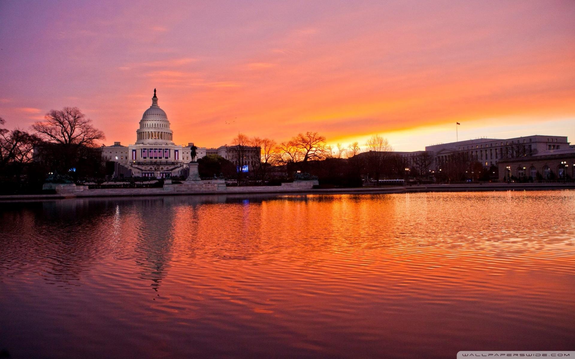 United States Capitol Washington DC 4K HD Desktop Wallpaper 1920x1200