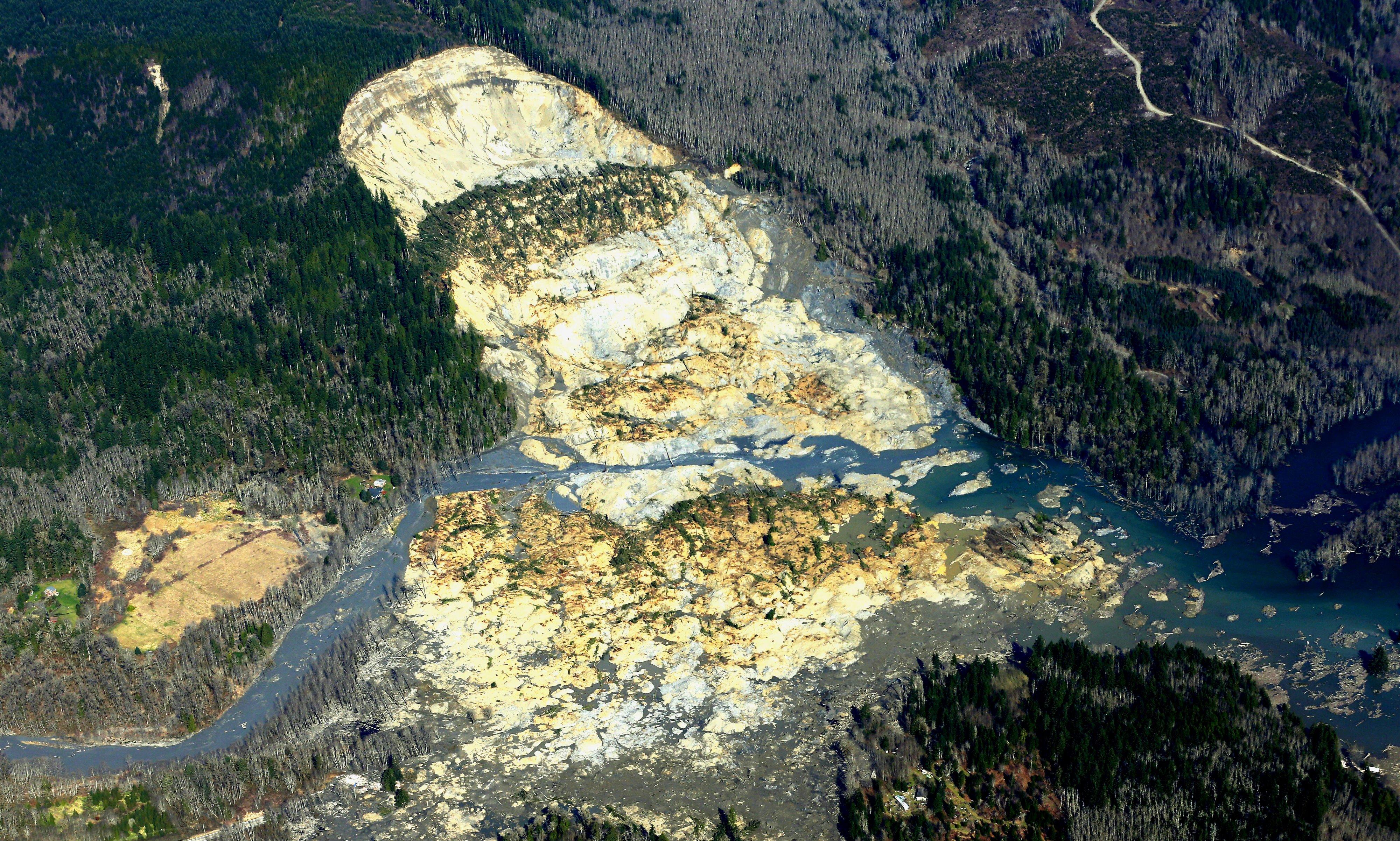 Snohomish Mudslide landslide nature natural disaster 4000x2404