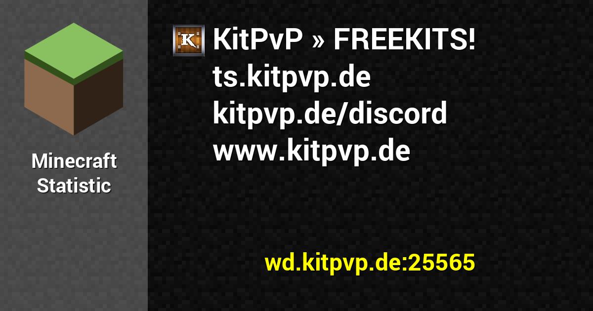 Userbars for KitPvP FREEKITS tskitpvpde kitpvpdediscord www 1200x630