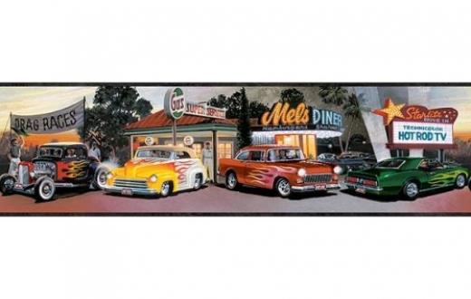Vintage Car Wallpaper Border   OmahDesignsNET 520x330