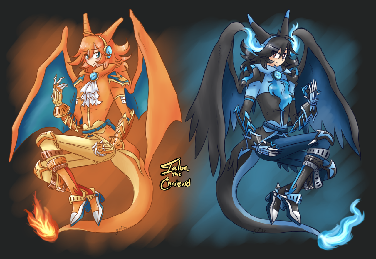 XY Gijinka Talon The CharizardMega Charizard X By FENNEKlNS On 1280x883