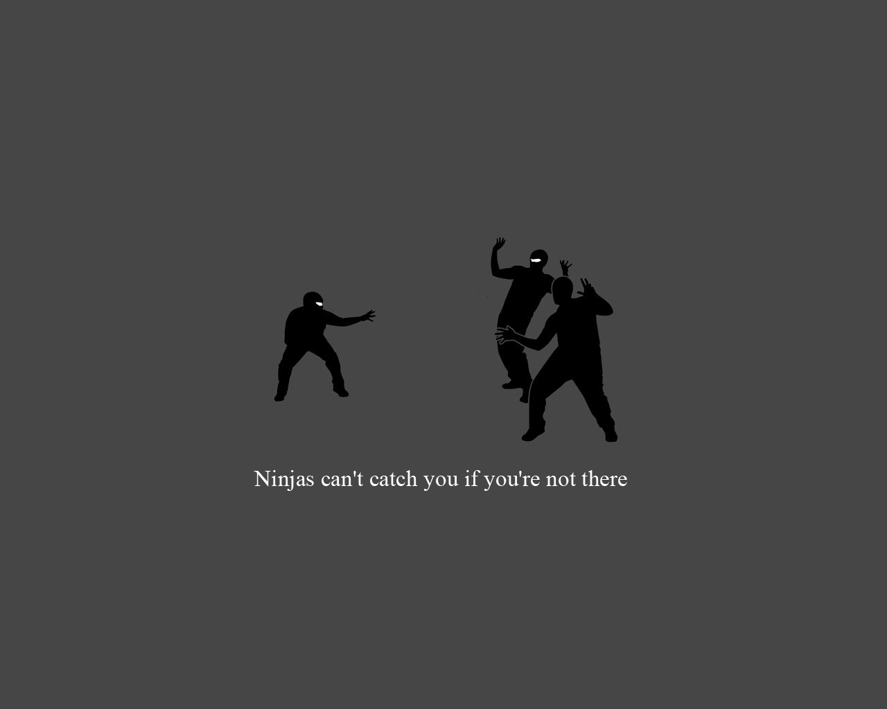 Funny Ninjas Wallpaper 1280x1024 Funny Ninjas Cant Catch You If 1280x1024