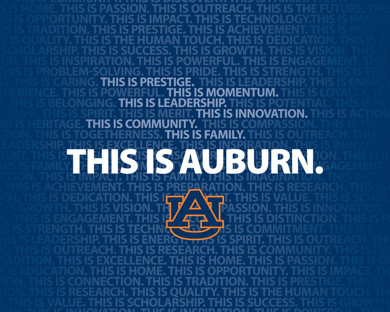Auburn Screensaver Football 1280x1024