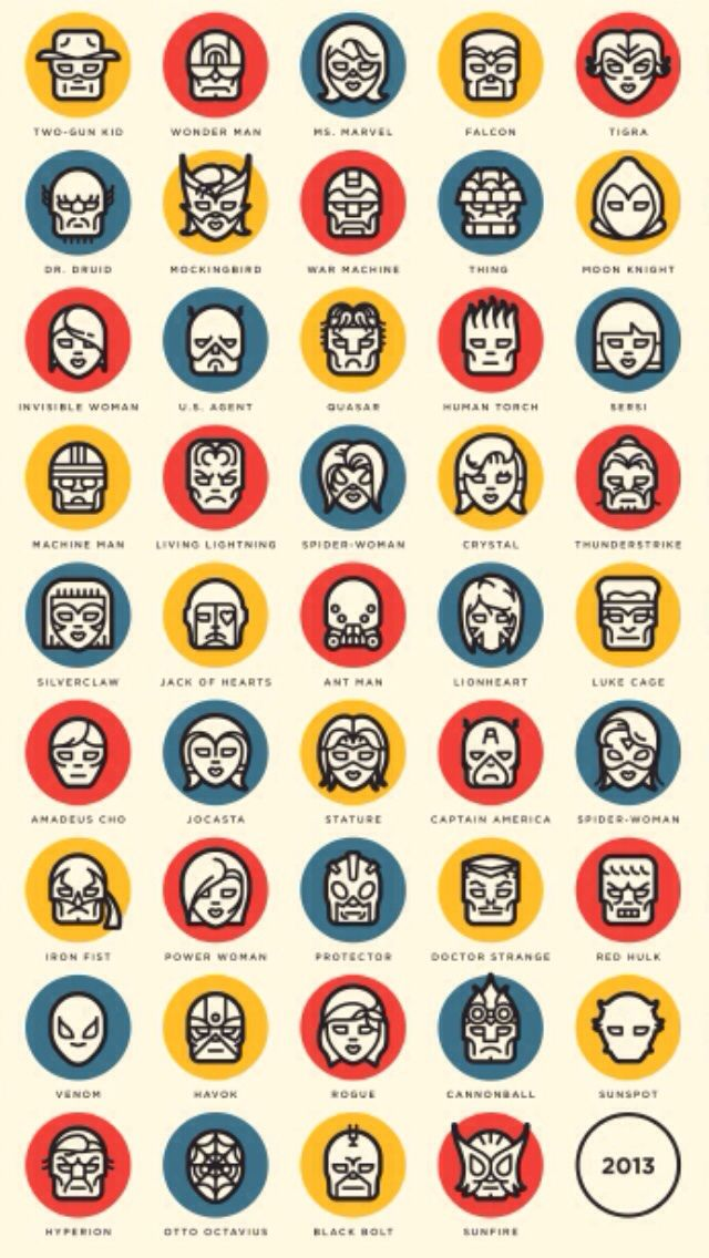 Marvel faces iPhone 5 wallpaper iPhone 5 Wallpapers Pinterest 640x1136