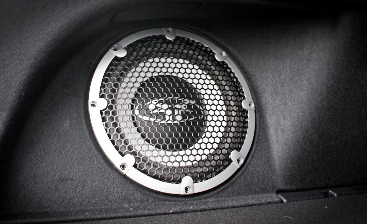 2010 Mitsubishi Lancer Sportback Ralliart Rockford Fosgate subwoofer 1280x782