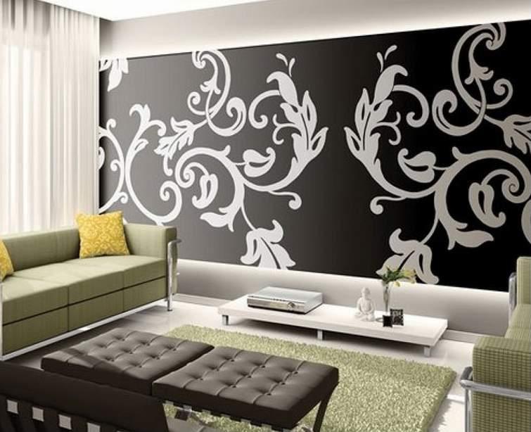 Contoh Gambar Desain Wallpaper Untuk Ruang Tamu Kecil Sempit Sederhana 755x614