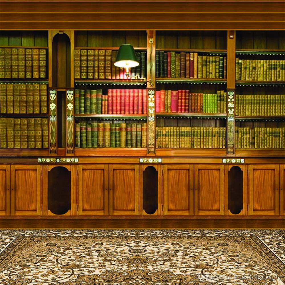 2019 Indoor Room Bookshelf Backdrop Photography Brown Bookcase 1000x1000