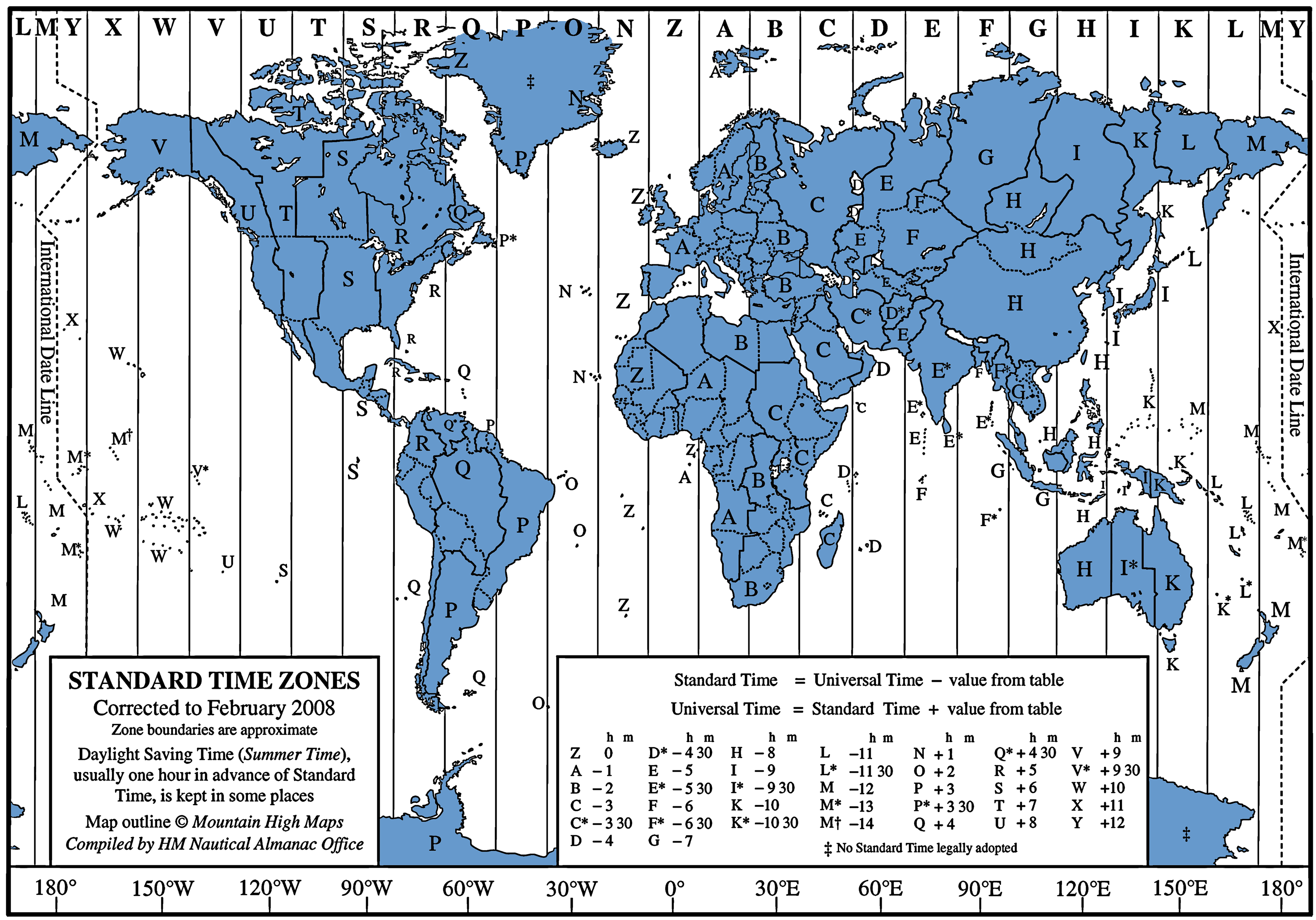 FREE Google Earth Latitude And Longitude US Capitals Gps - Map showing us time zones