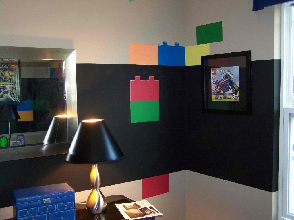 Two set of Lego Blocks wall decal for boys bedroom decors 1024x768