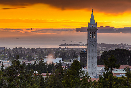 UC Berkeley Campanile at Sunset Flickr   Photo Sharing 500x334