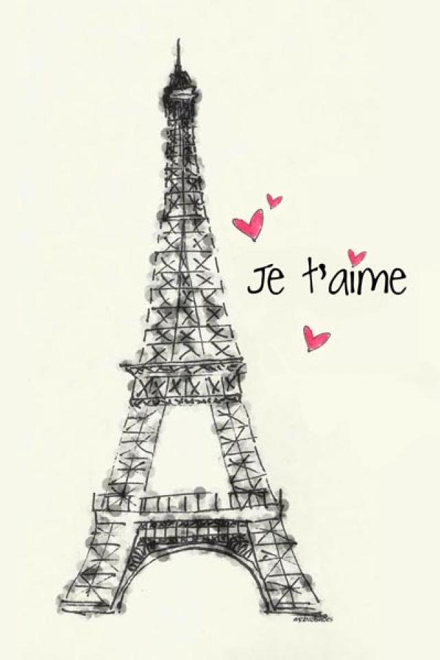 Cute Paris wallpaper Paris Pinterest 640x960