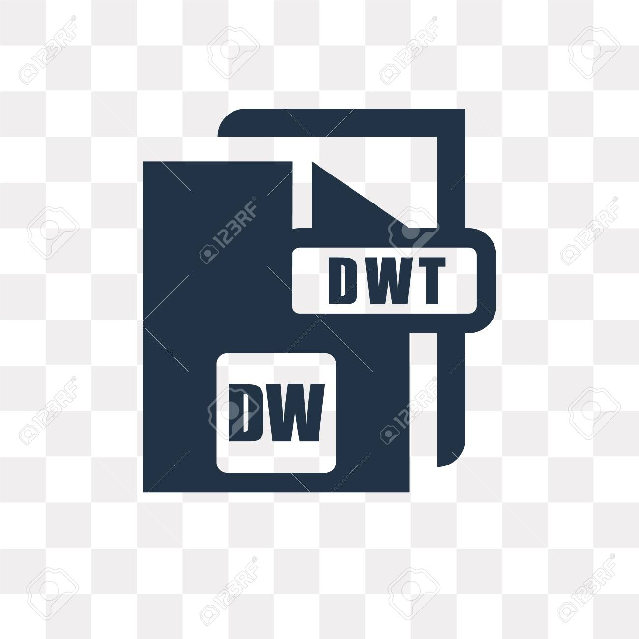 DW Vector Icon Isolated On Transparent Background DW Transparency 1300x1300