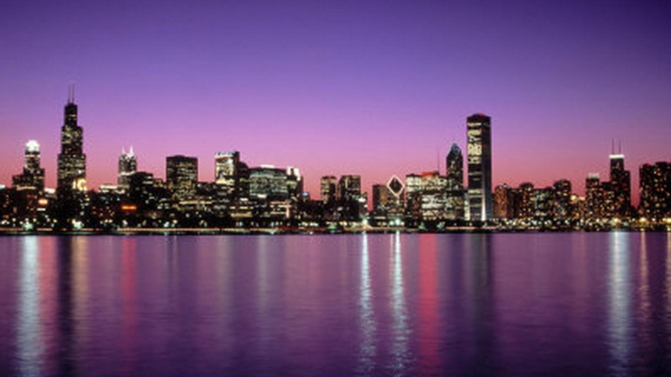 Chicago Skyline Backgrounds 1366x768