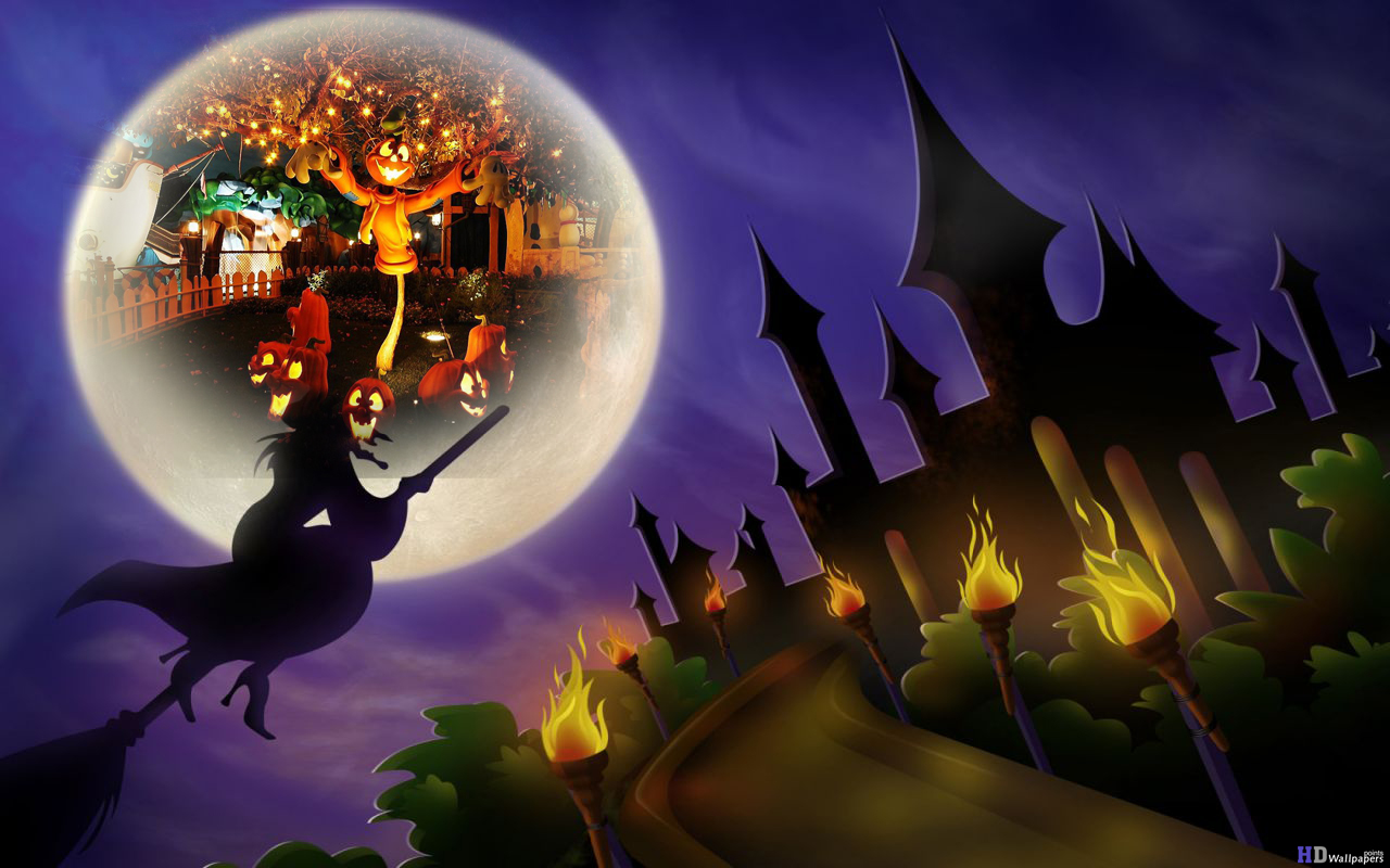 download Halloween Witches Wallpapers HD Wallpaper [1280x800 1280x800