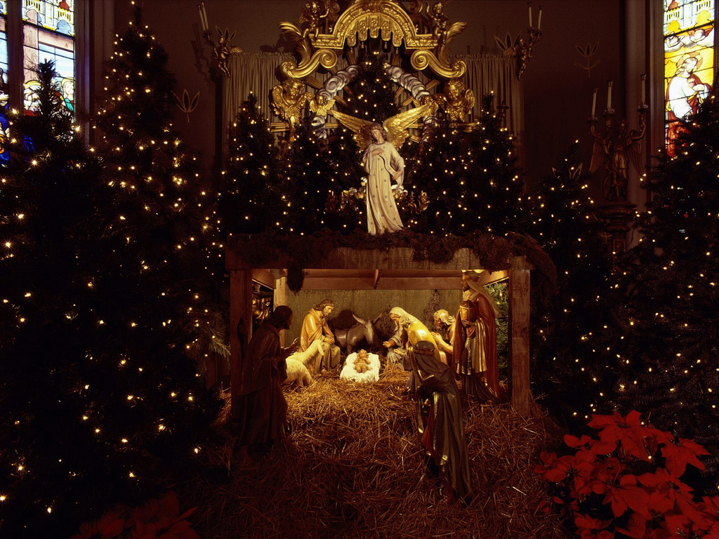 desktop wallpaper nativity scene wallpaper 1024x768