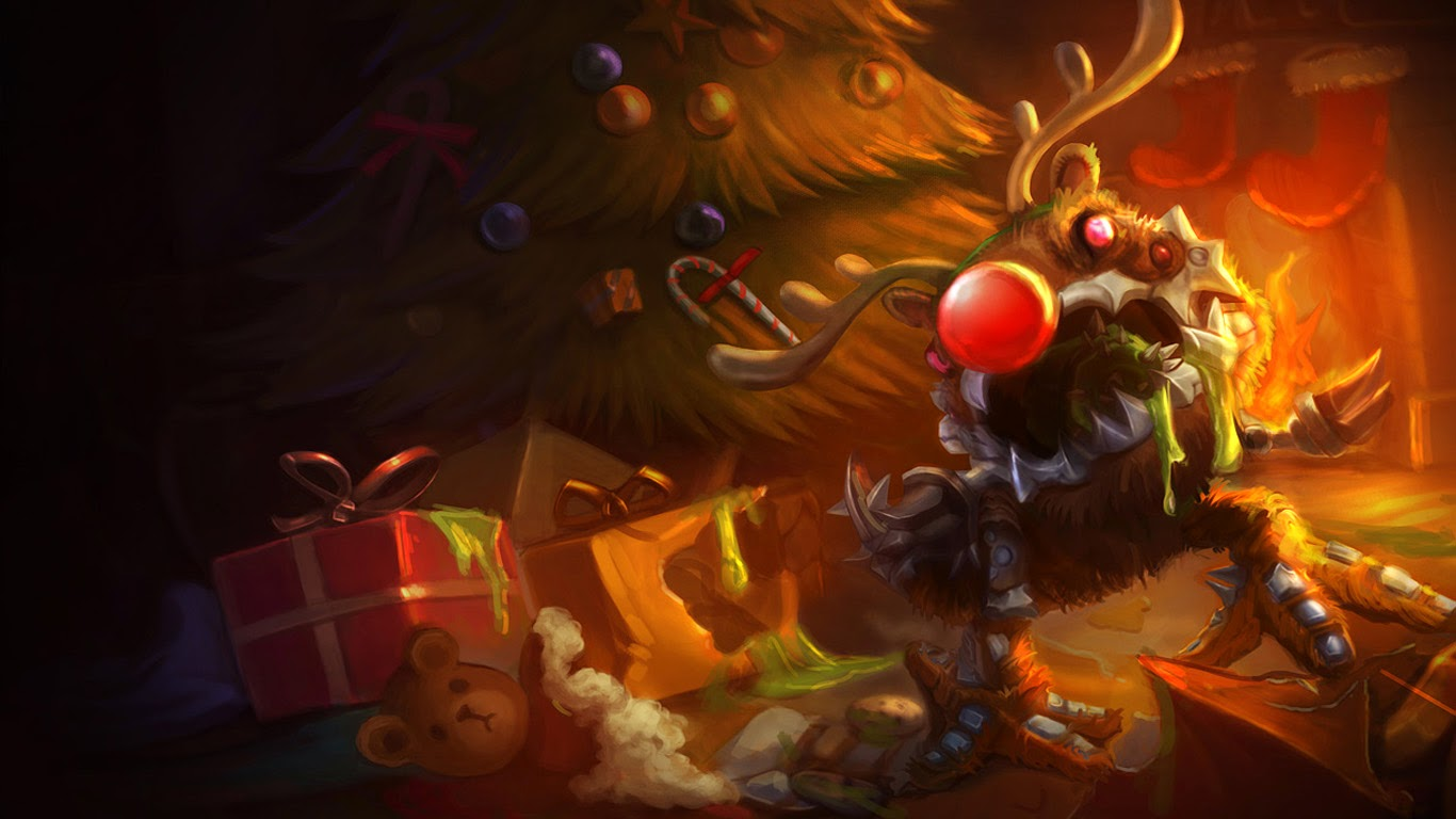 Free Download Christmas Reindeer Kogmaw League Of Legends Lol