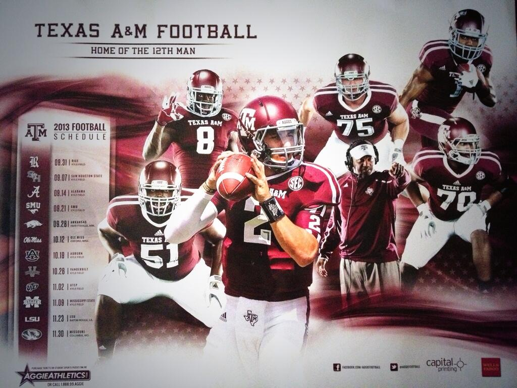 2013 SEC football team schedule posters 1024x768