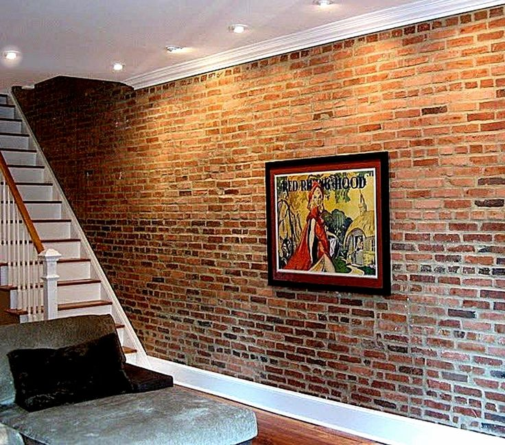Brick wallpaper Wallpaper a feature wall using double stick tape and 736x648