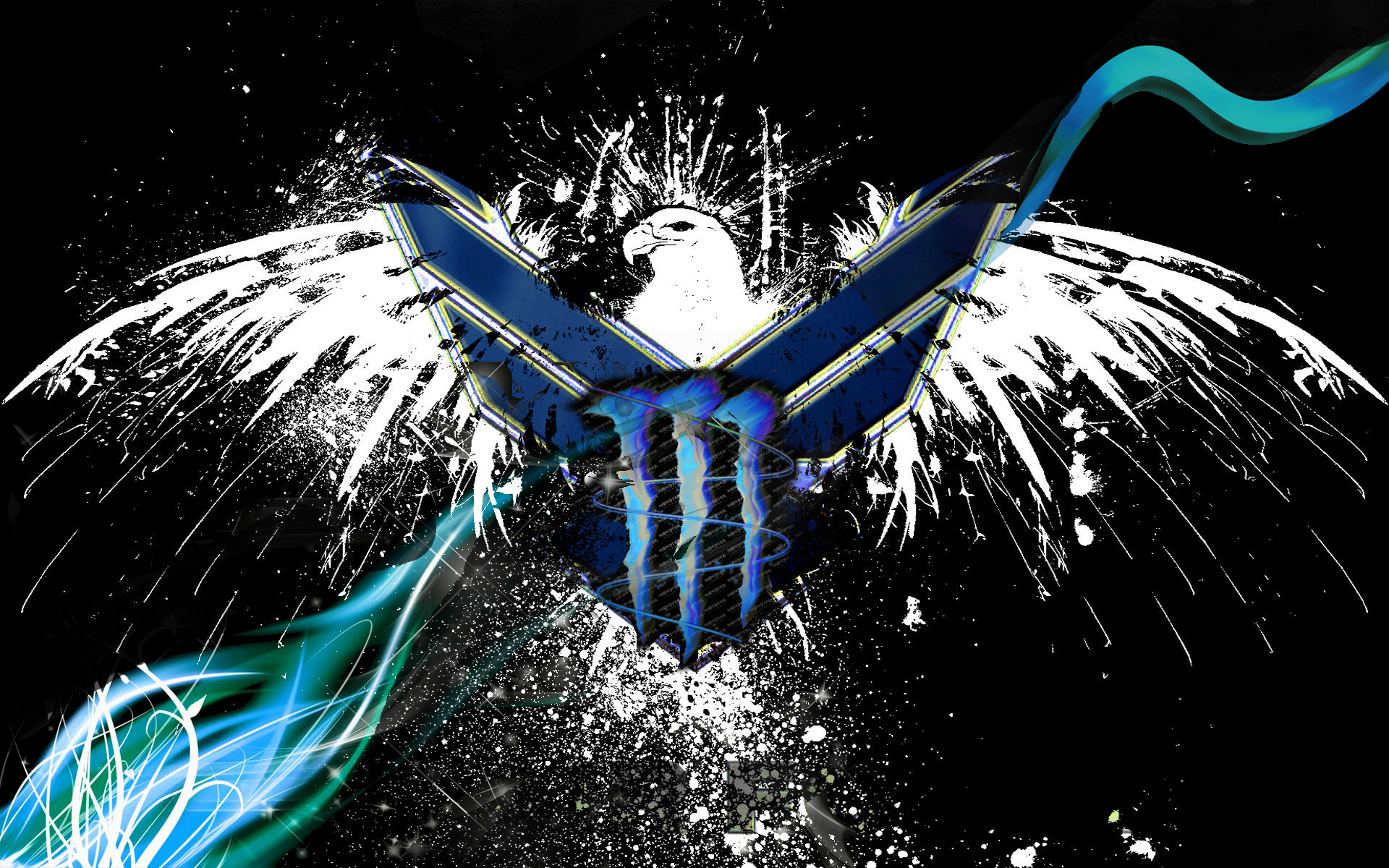 Moto X 2014 Colors Blue Monster Energy Lo...