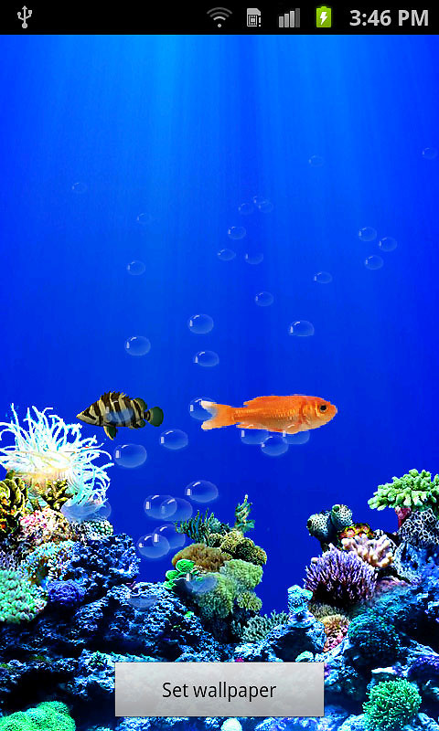 Aquarium Live Wallpaper Android Live Wallpaper download 480x800