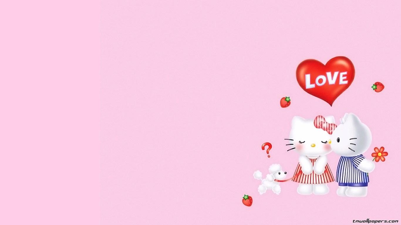 wallpapercomphotohello kitty screensavers and wallpapers12html 1366x768