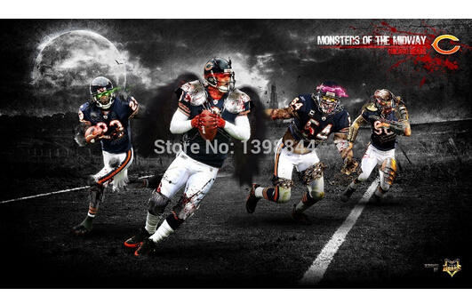 Bedroon Decoration American Football Custom Wallpaper WallSticker 632 531x342