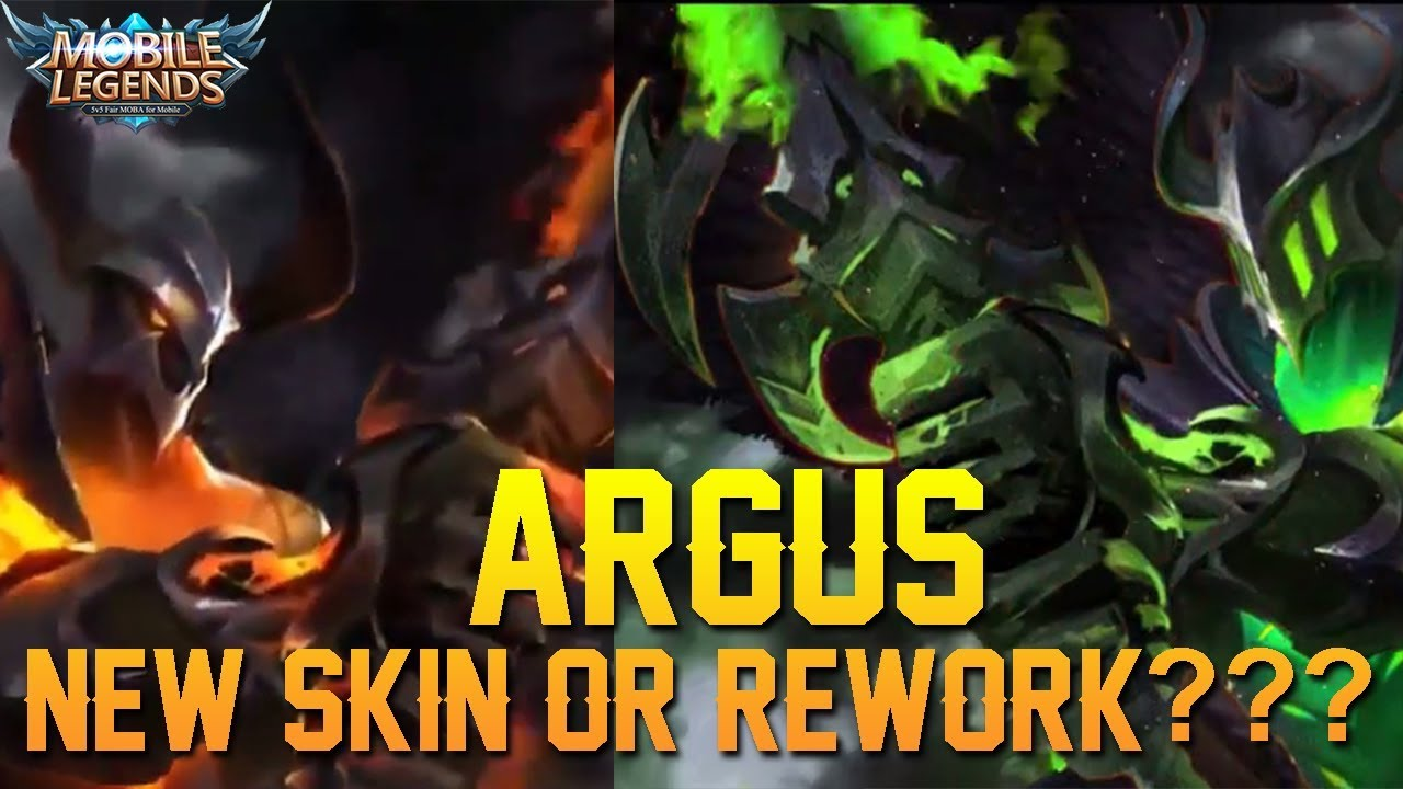 Free ARGUS New Skin Or Model Rework Mobile Legends