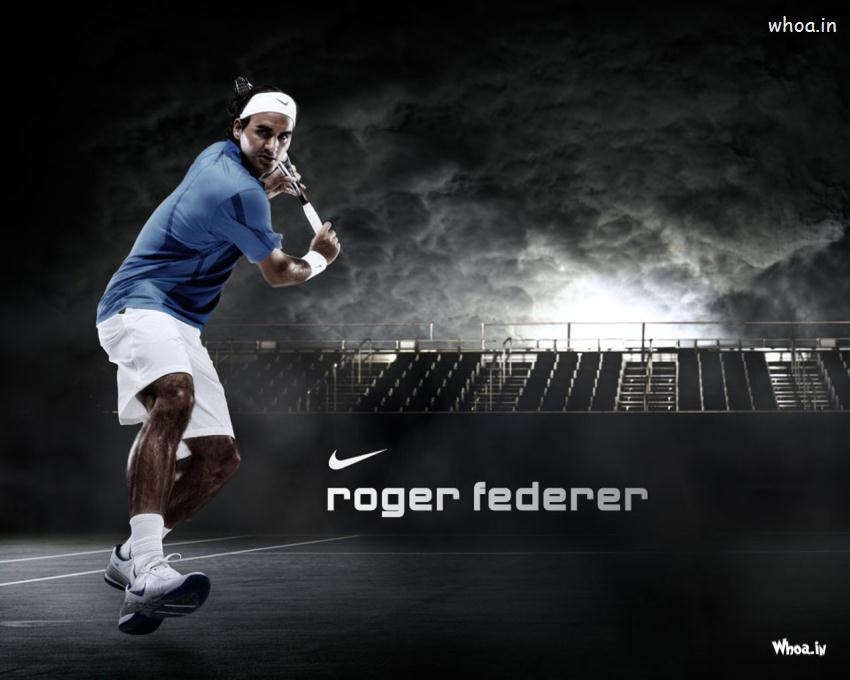 Roger Federer Dark Hd Wallpaper 850x680