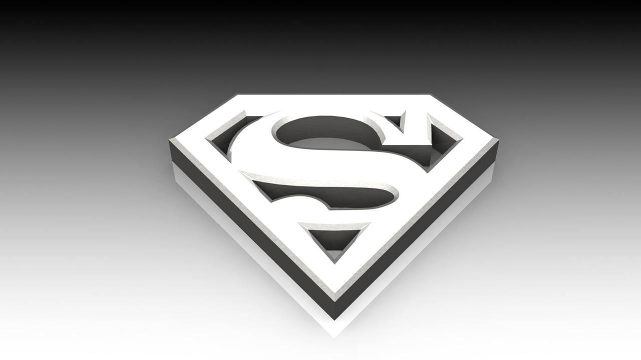 Superman 3D logo wallpaper HD Desktop Wallpapers 1280x720