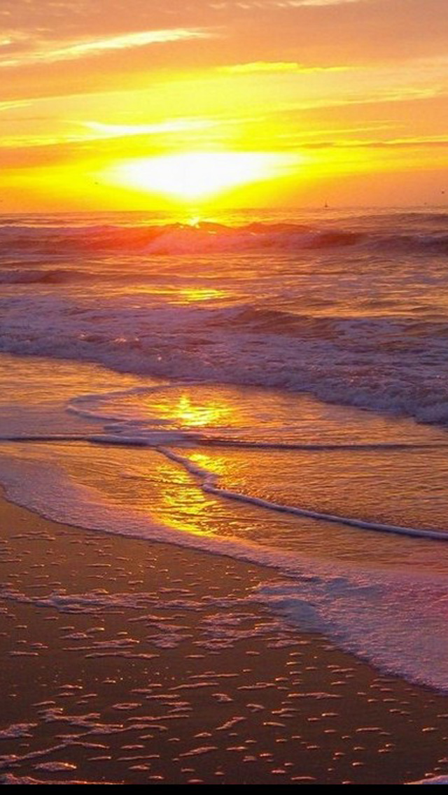 Beach Sunset HD IPhone 5 Wallpapers Part One 640x1136