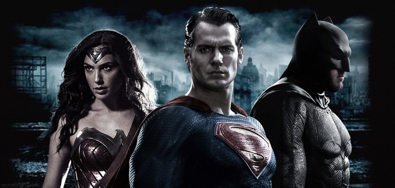 Batman V Superman   Trinity Wallpaper by CAMW1N 1295x616