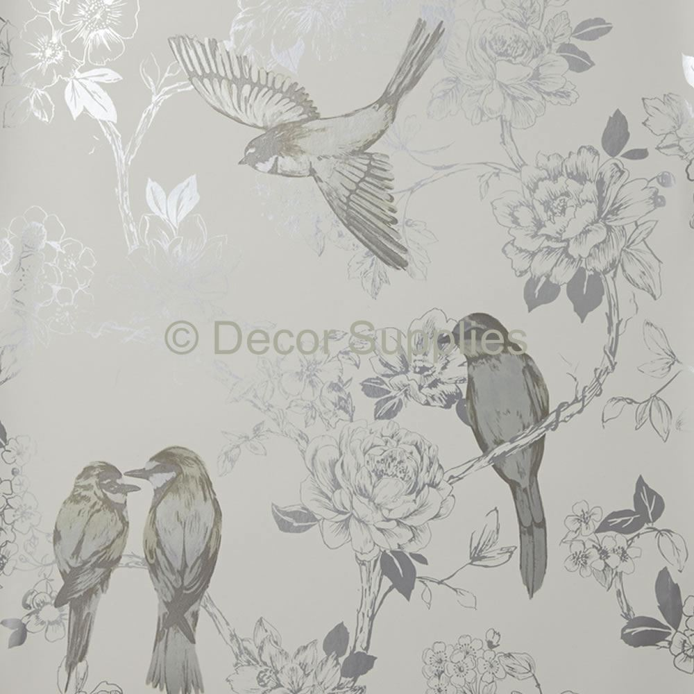 Free download Nightingale Floral Birds Foil Maison