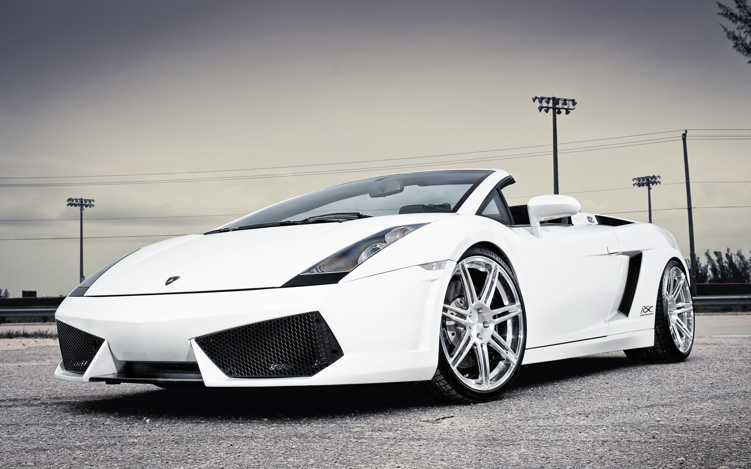 White Lamborghini Gallardo HD Desktop Wallpaper HD Desktop Wallpaper 2560x1600