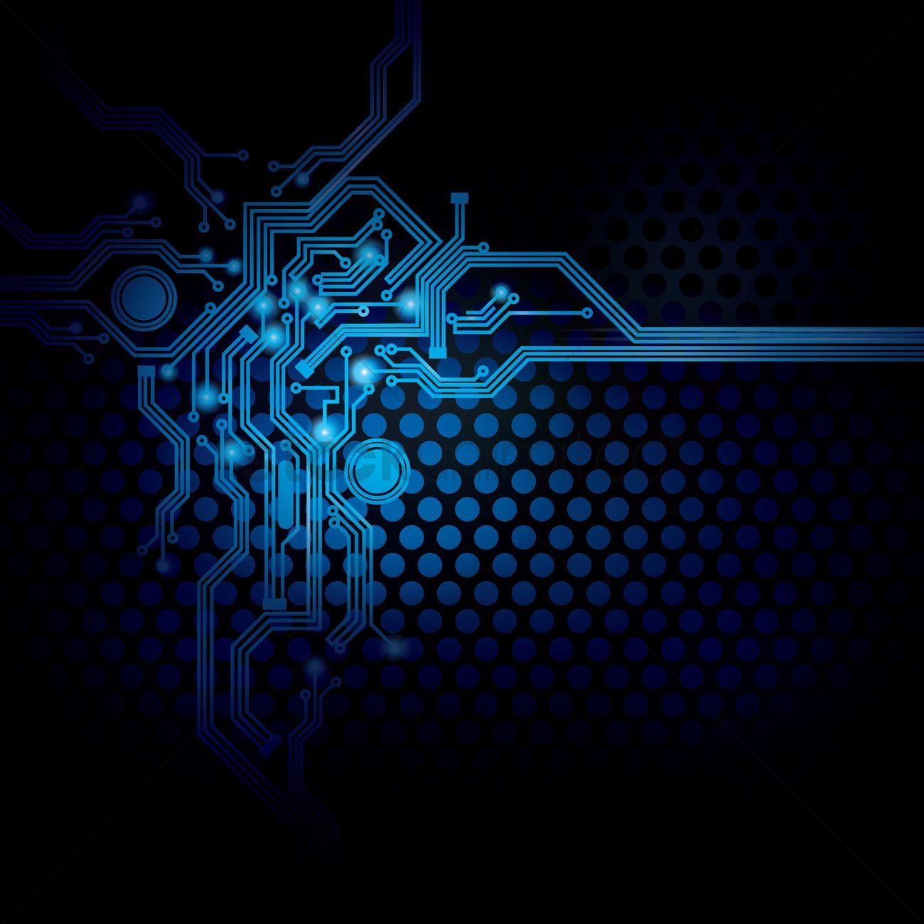Circuit design on digital background Vector Image   1647006 1300x1300