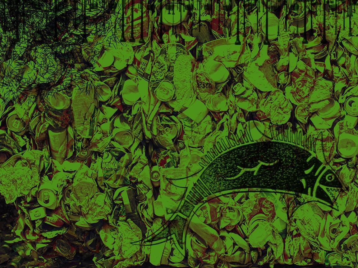 Garbage Fish Wallpaper   Creativity Wallpaper 29245009 1152x864