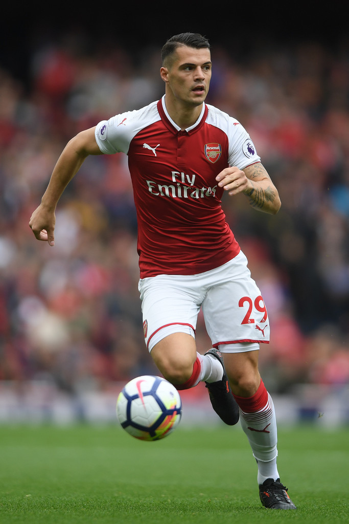 Granit Xhaka Arsenal V Brighton And Hove Albion   Alex Johnson 683x1024