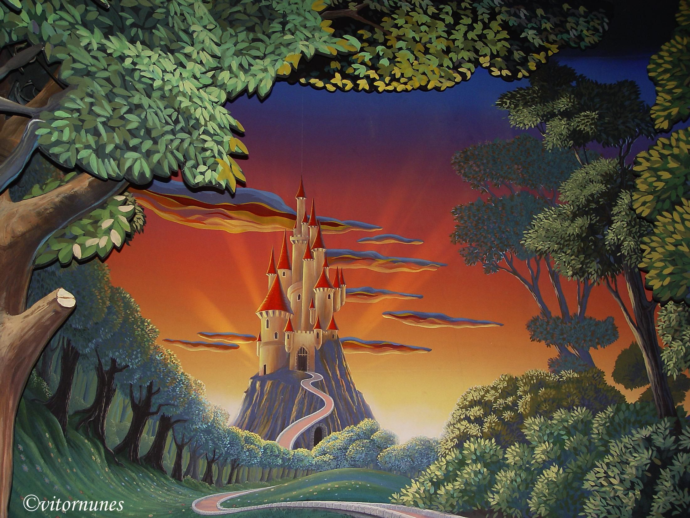 Snow White Castle Castle disney Dual Monitor Dual Screen graphics 2200x1650