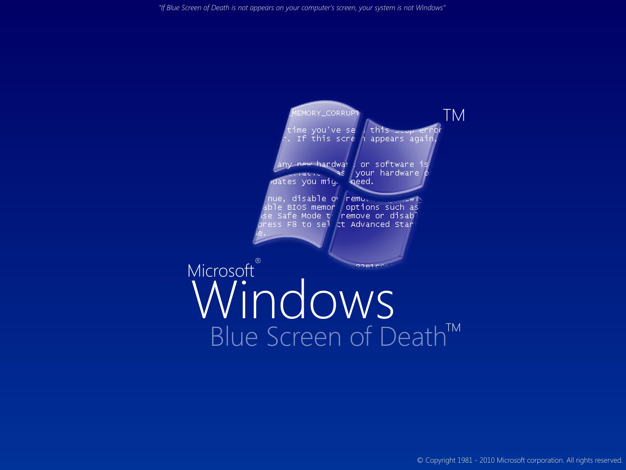 Fond decran Windows Blue Screen   Wallpaper 2048x1536