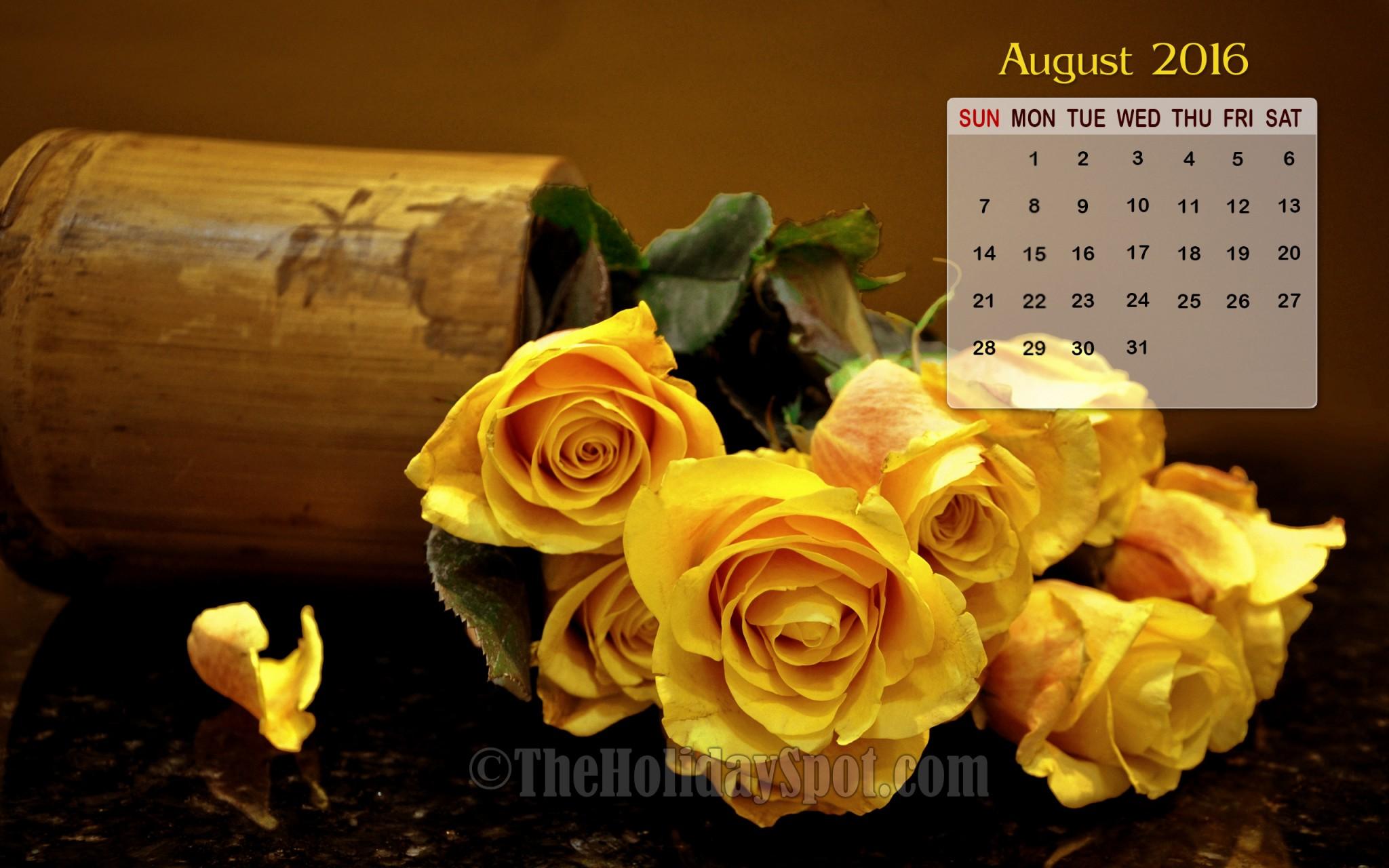 Calendar Wallpaper   August 2016 2048x1280