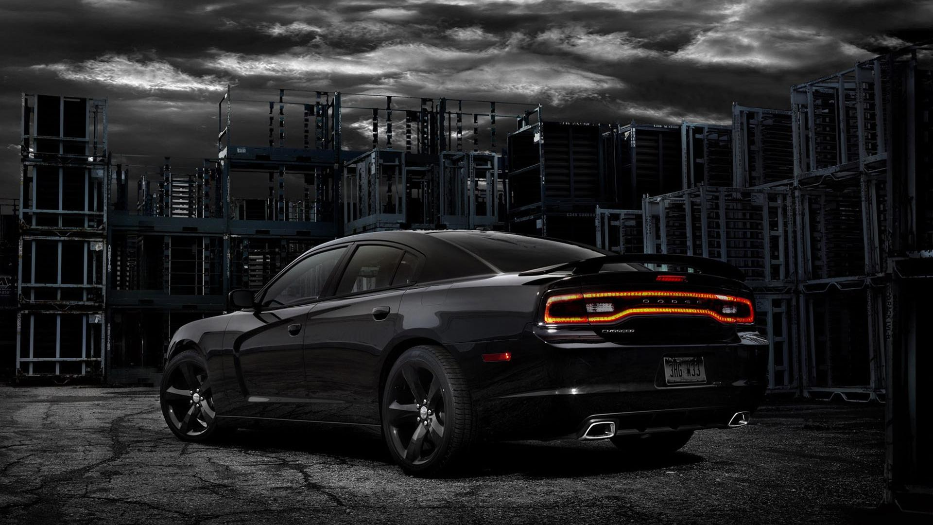 2012 dodge charger blacktop rear angle wide HD Wallpaper wallpaper 1920x1080