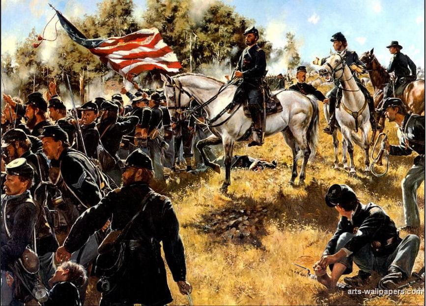 American Civil War Paintings Art Prints Gallery Pictures Artworks 867x622