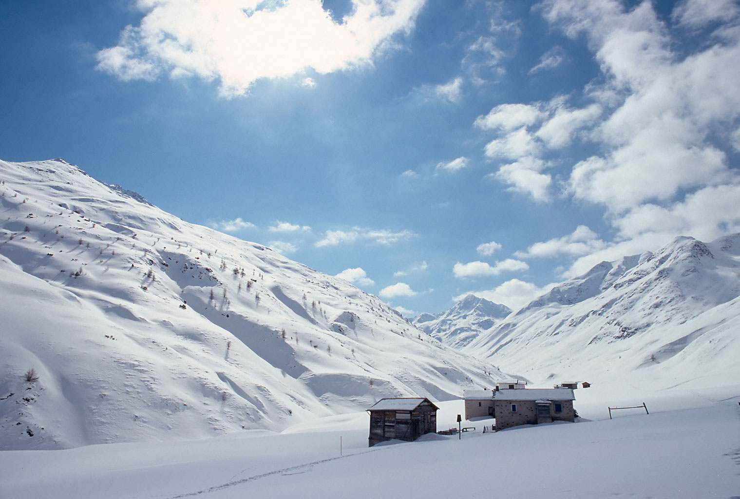 Alpine Snow Field near Livigno Italy The WallPepper Project 1519x1024