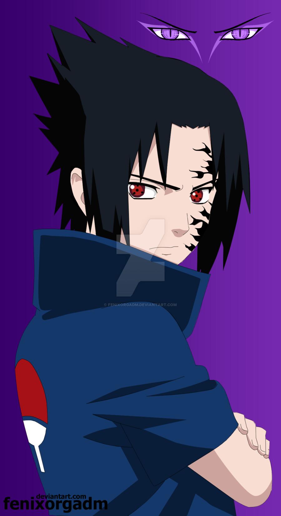 Sasuke Uchiha Curse Mark by fenixorgadm 900x1655