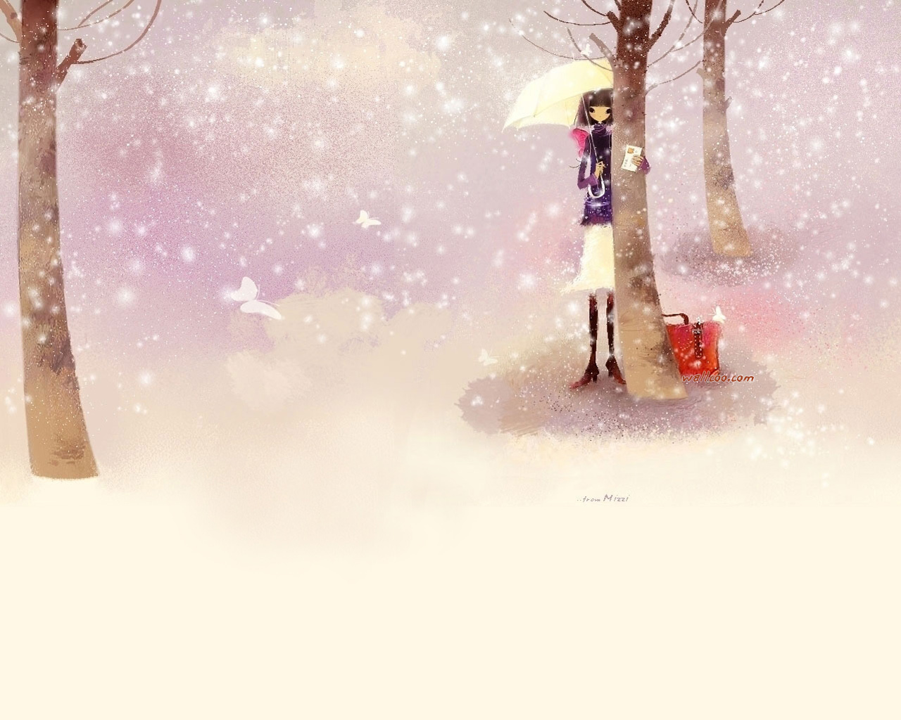 Free Korean Girl Cartoon Wallpaper [ ] For