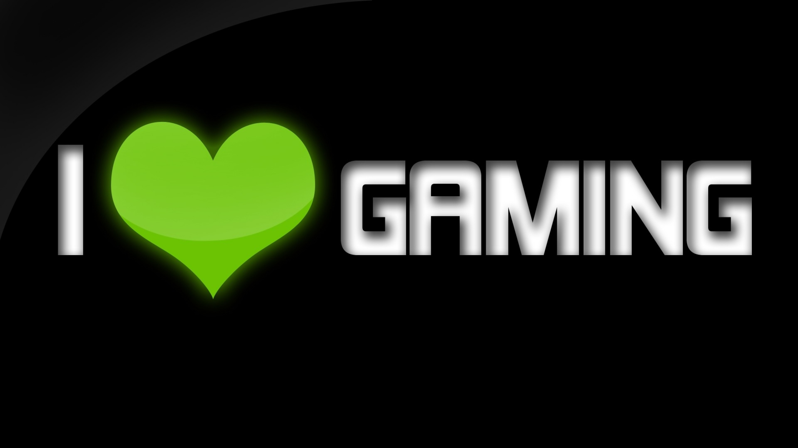 Download Wallpapers Download 2560x1440 green video games love black 2560x1440