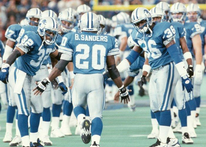 Barry Sanders By Retrodan16 Source Wallpaper Running Back WallpaperSafari
