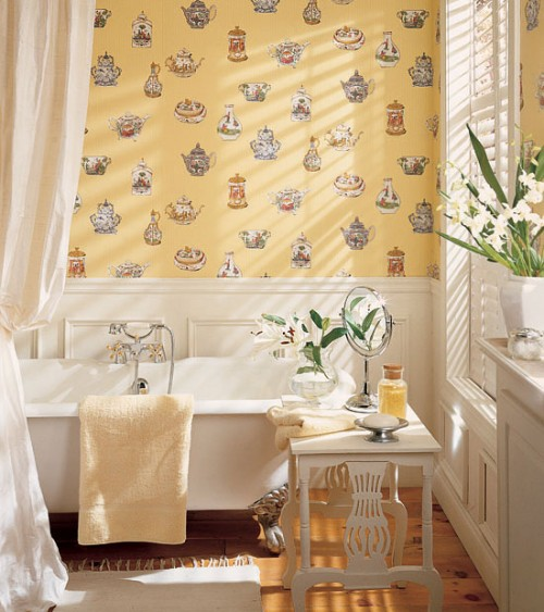 30 Bathroom Wallpaper Ideas Shelterness 500x563
