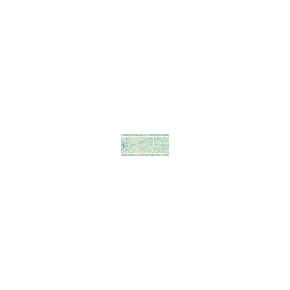 com Architectural Scroll Wallpaper Border Aqua Blue Home Improvement 960x960